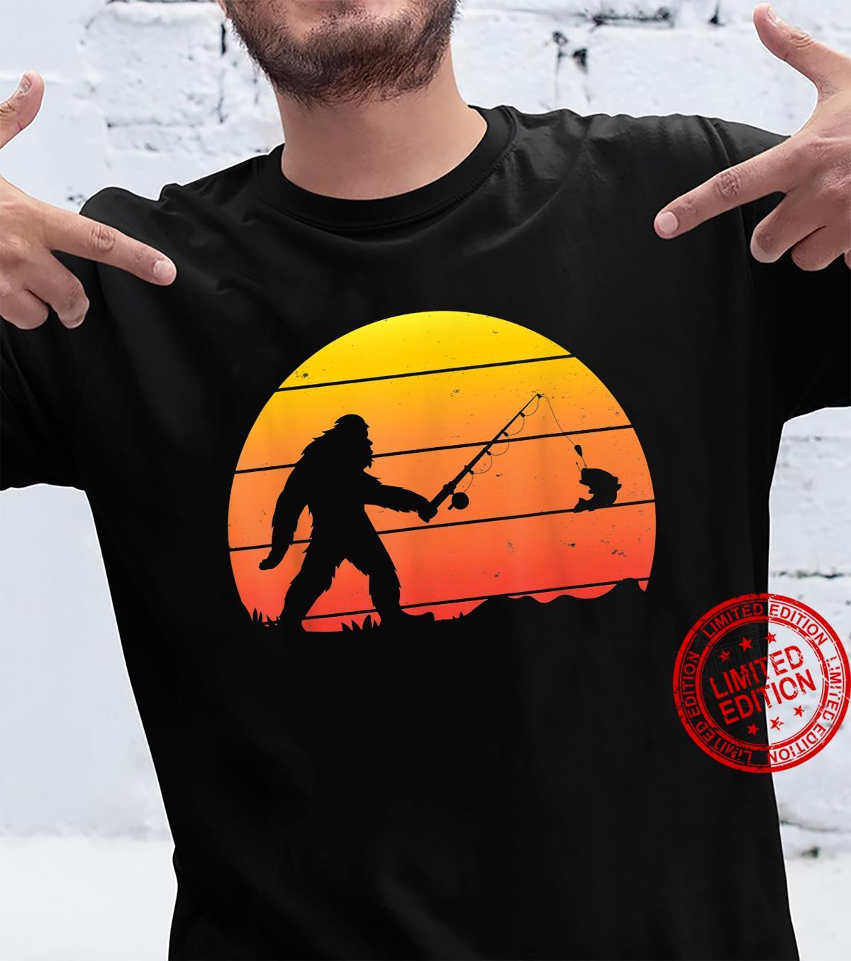 Cool Monkey Fishing Fish Rod Shirt