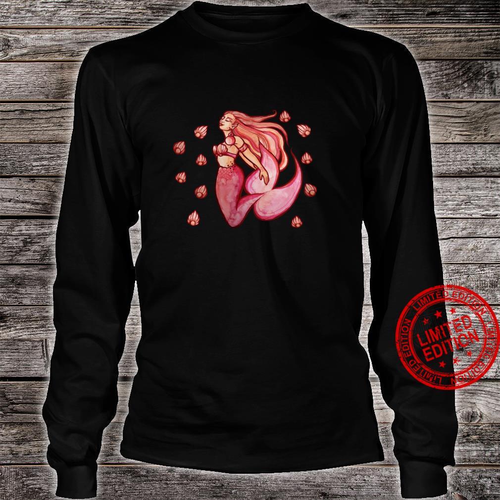 Cute Mermaid Art fun Shirt long sleeved