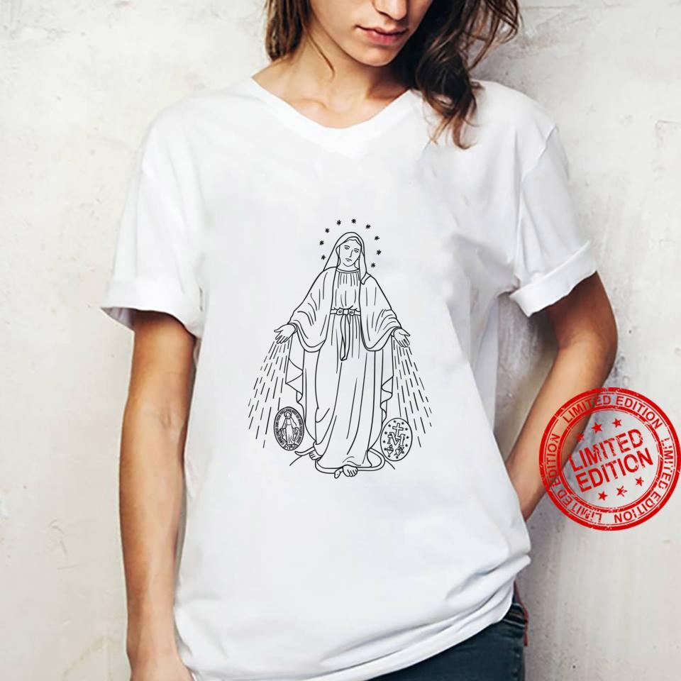 Our Lady of Grace Virgen de la Medalla Milagrosa Shirt ladies tee