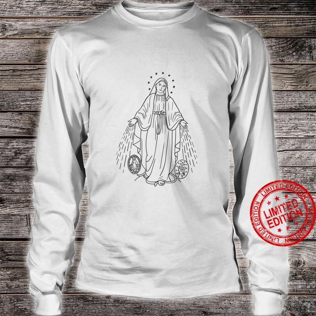 Our Lady of Grace Virgen de la Medalla Milagrosa Shirt long sleeved