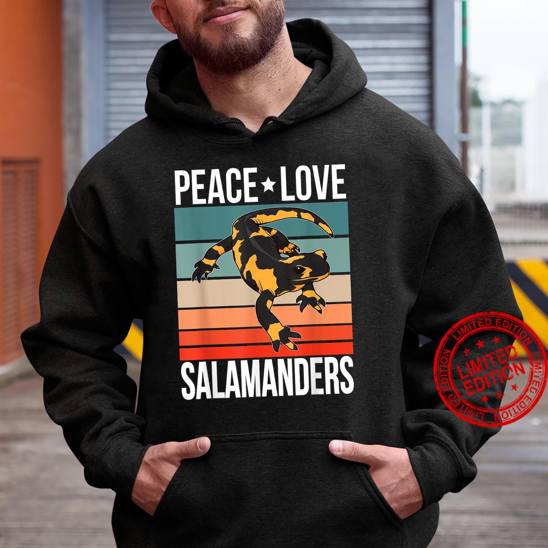Peace Love Salamanders Quote Retro Art Reptile Vintage Shirt hoodie
