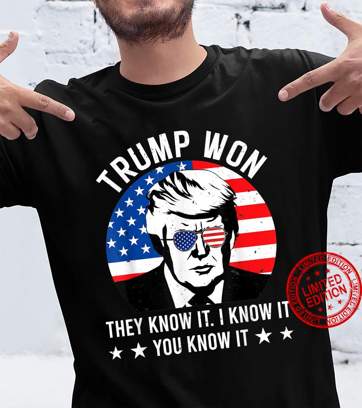 President Trump Won Presidential Election 2024 Supporters Shirt