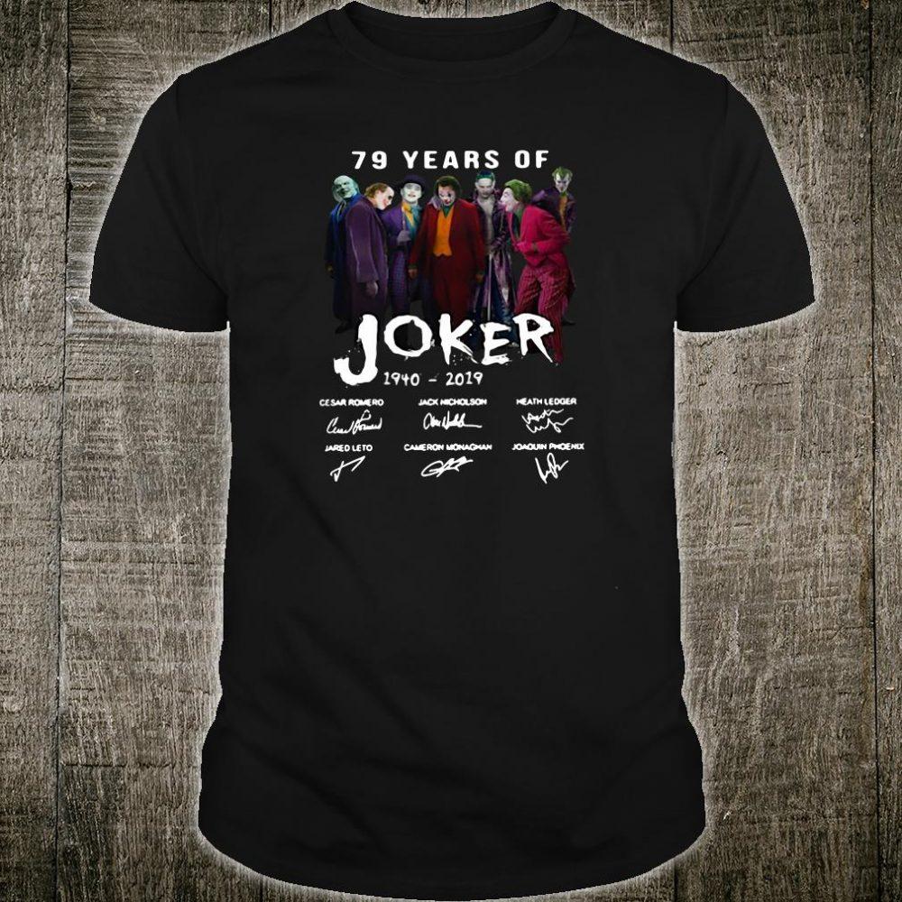 79 years Joker 1940 2019 signatures shirt