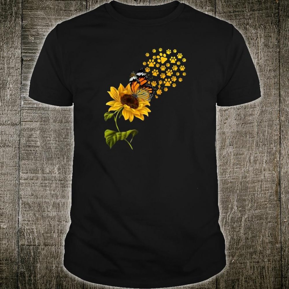 Butterfly and sunflower paw shirt
