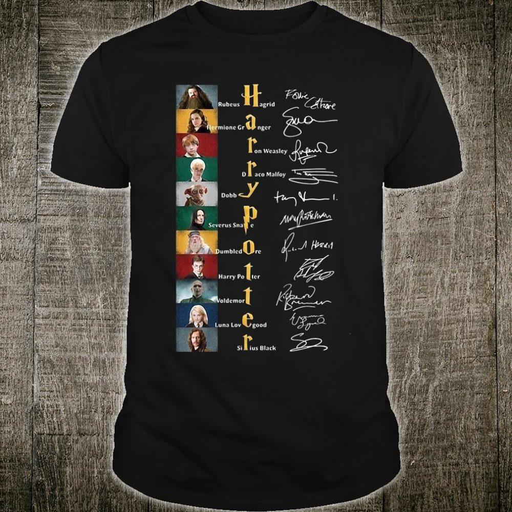 Harry Potter signatures shirt