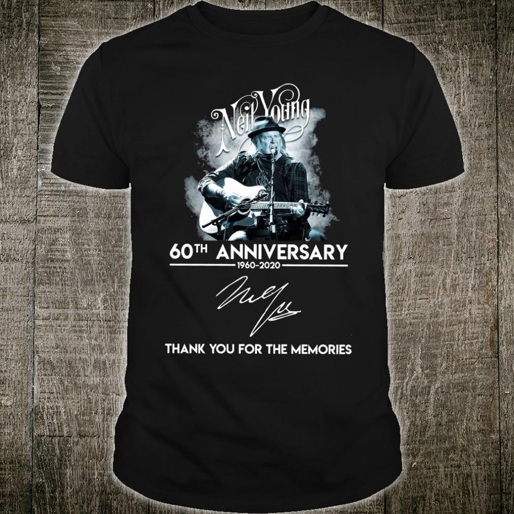 Neil Young 60th anniversary signature thank you for the memories shirt