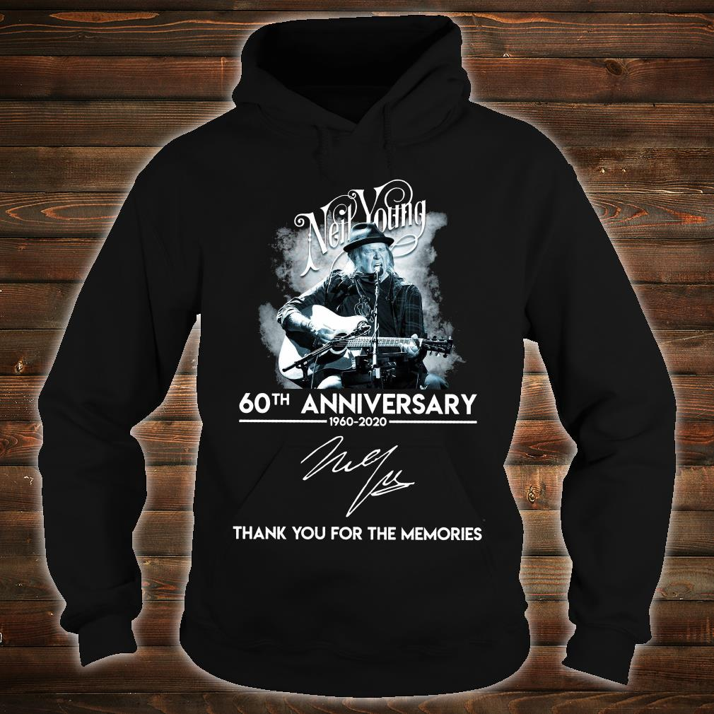 Neil Young 60th anniversary signature thank you for the memories shirt hoodie