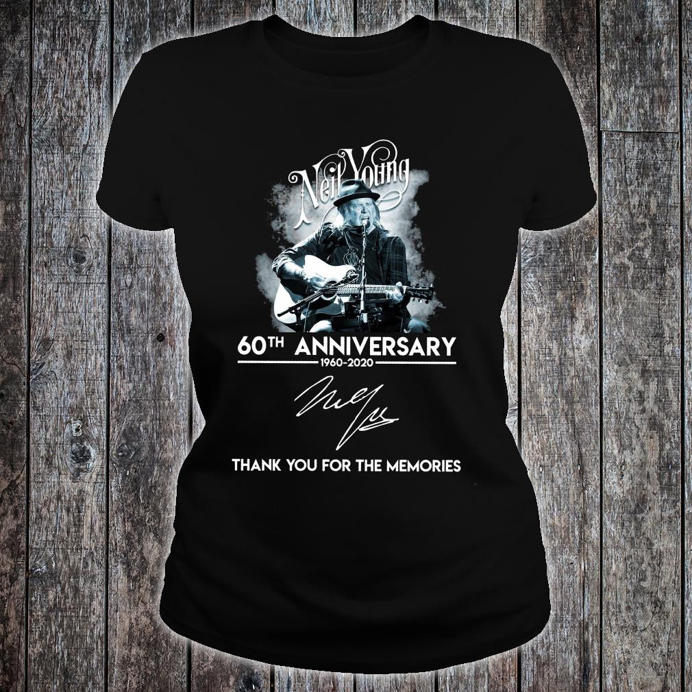 Neil Young 60th anniversary signature thank you for the memories shirt ladies tee