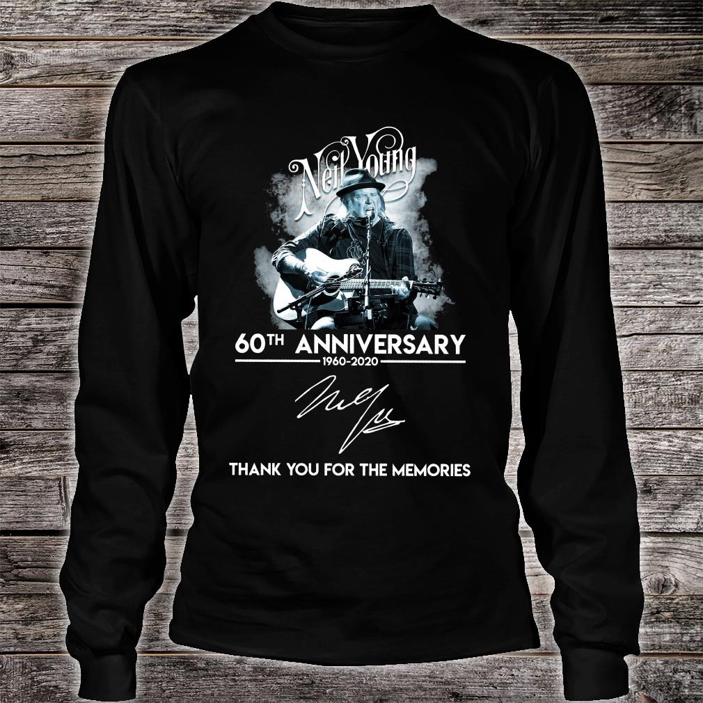 Neil Young 60th anniversary signature thank you for the memories shirt Long sleeved