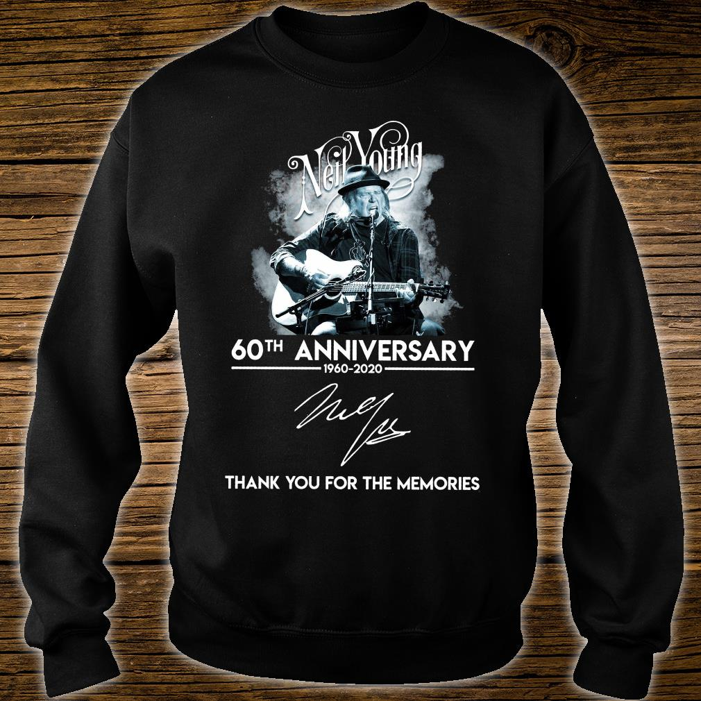 Neil Young 60th anniversary signature thank you for the memories shirt sweater