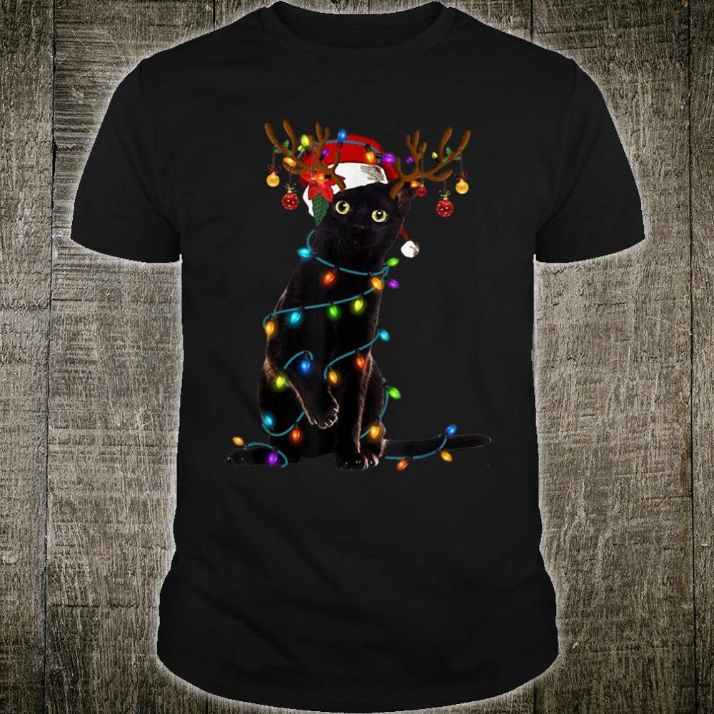 Santa cat Christmas tree shirt