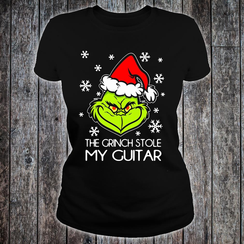 The Grinch stole my guitar shirt ladies tee