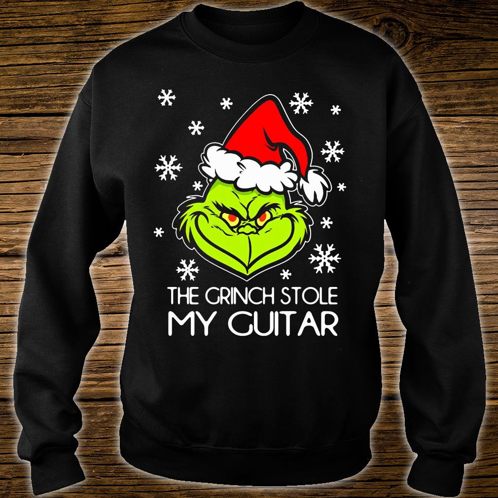 The Grinch stole my guitar shirt sweater
