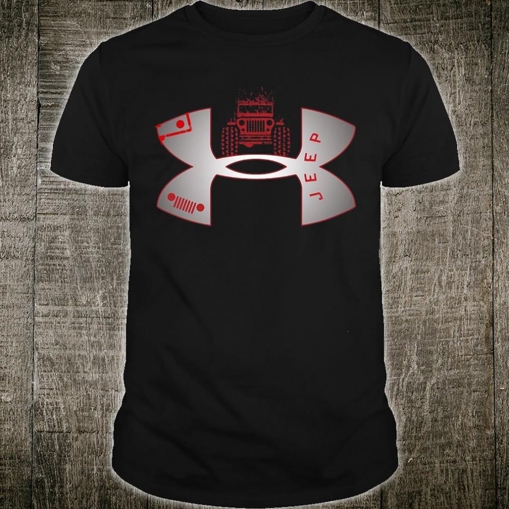 Under Armour logo jeep shirt