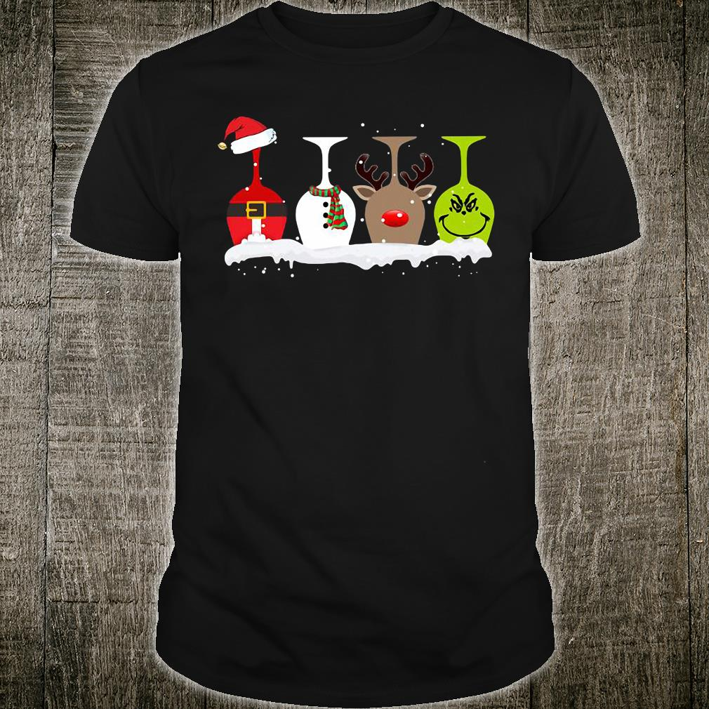 Wine 4 glasses Christmas shirt