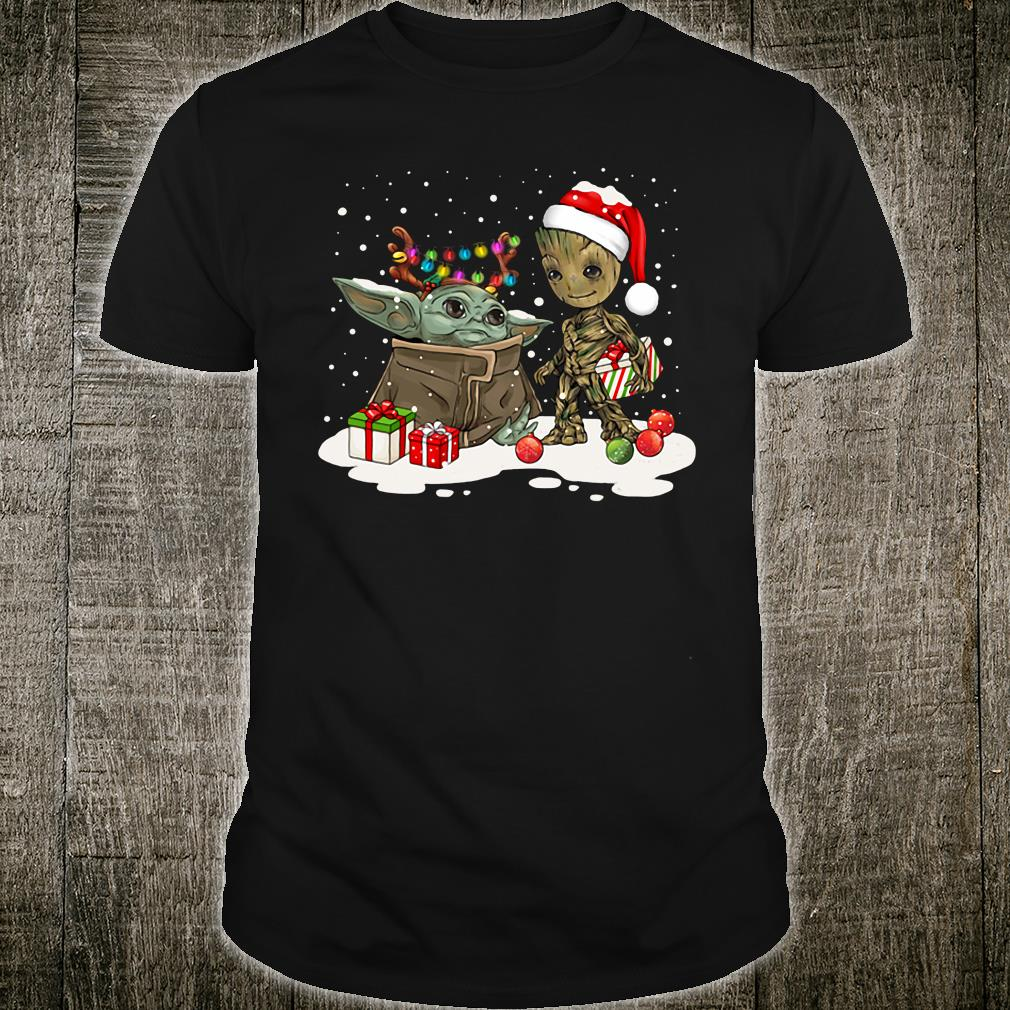 Yoda and Groot christmas shirt